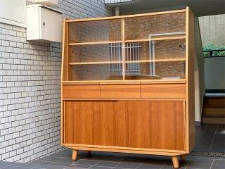 ウニコ unico アルベロ ALBERO カップボード 食器棚 チーク材 北欧ビンテージスタイル ■