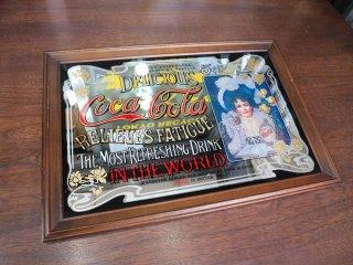 コカ・コーラ Coca Cola パブミラー ウォールミラー DRINKロゴ 70s ヴィンテージ Vintage ◎
