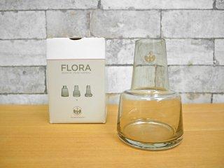 ホルムガード Holmegaard フローラ FLORA フラワーベース 花瓶 ルイーズ・キャンベル Louise Campbell 旧スモーク 廃盤カラー 箱付き ●