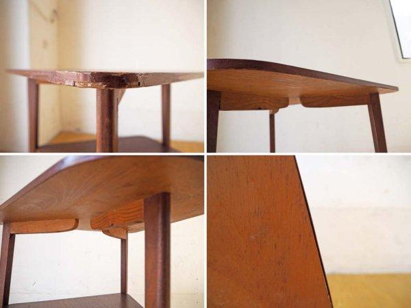 北欧ビンテージ チーク材 サイドテーブル トライアングルデザイン 3本脚 北欧家具 Teak side table ★