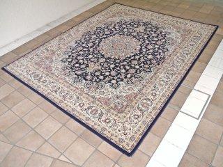 プレーベル Prevell オマージュ ダークブルー ラグ ペルシャ絨毯 イラン製 定価¥116,640- 美品 ◇