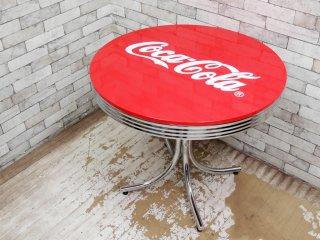 コカ・コーラ Coca Cola ダイナーテーブル カフェテーブル 50sビンテージスタイル ●