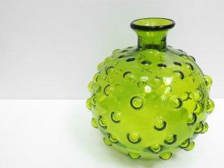 USビンテージ ガラス フラワーベース グリーン H.P.DECO 取扱い ●