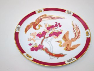 大倉陶園 OKURA 比翼連理 限定版飾皿 プレート 孔雀 1979年 岡本孝文作 白磁 ●