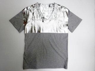 エムエムシックス MM6 エイズ Tシャツ グレー × シルバー Martin Margiela マルタンマルジェラ 未使用品 ●