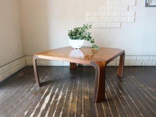天童木工 TENDO 乾三郎デザイン プライウッド 座卓 ローテーブル ブラジリアンローズウッド材 正方形 W75cm グッドデザイン賞受賞 ◎