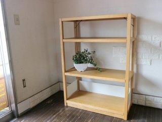 無印良品 MUJI オーク材 ユニットシェルフ 4段 本棚 飾り棚 ナチュラルスタイル ◎