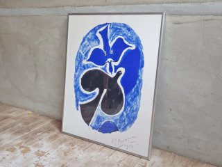 ジョルジュ・ブラック Georges Braque 青と黒の鳥 シルクスクリーン 額装品 ♪