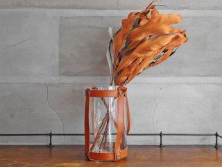スカーガーデン skargaarden キャンドルランタン Candle lantern レザーストラップ ガラス 北欧 デンマーク キャメル♪