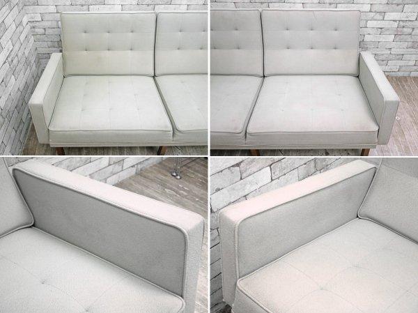 モダニカ MODERNICA Split Rail Arm Sofa 2人掛け ソファ ウォールナットベース ●