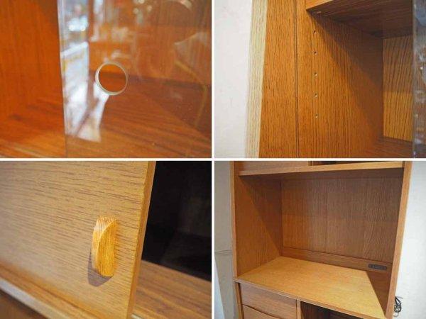 ウニコ unico シグネ SIGNE キッチンボード 食器棚 オーク材 ブラウンカラー オープンタイプ ★