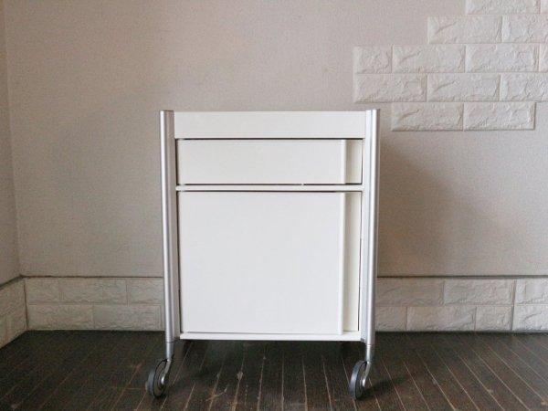 スタジオ ドーモ studio domo ワゴン ALLY Trolley Cart ABS樹脂 アルミニウム ホワイト ◎