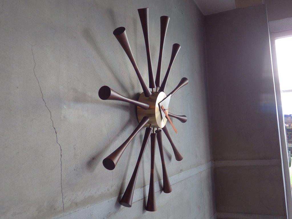 ヴィトラ Vitra スピンドルクロック Spindle Clock 時計 ウォールクロック ジョージ・ネルソン 定価¥55,000- ♪