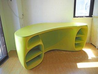 ヴィトラ Vitra バオバブ デスク BaObab desk ライムグリーン フィリップ・スタルク Philippe Starck デザイン 廃番 希少 定価:350,000円以上 ★