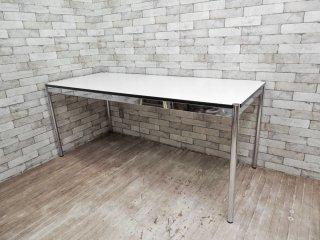 USMモジュラーファニチャー USMハラー USM Haller ワーキングテーブル カンファレンステーブル ダイニングテーブル W175cm ホワイトラミネート天板 ●