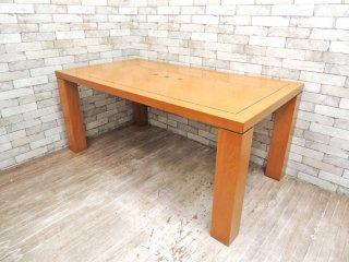 コスガ KOSUGA ミラノ MILANO ダイニングテーブル w165cm ホワイトウォールナット材 国産家具 ●