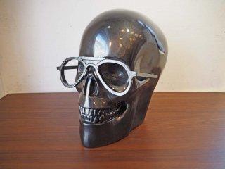 ギャラリー ライフアクセント Gallery Life Accent スカル Skull オブジェ ドクロ イタリア メタリックグレー ★