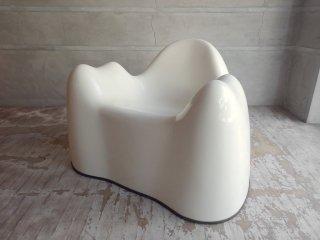 ベイレリアン BEYLERIAN Ltd. ウェンデルキャッスル Wendell Castle モーラーチェア Molar Chair ラウンジチェア 白  70-80's ビンテージ MoMA♪