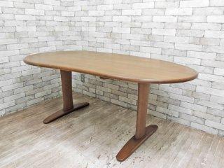 飛騨産業 HIDA キツツキ クレセント CRESCENT ダイニングテーブル SB328WP オーク材 ビーンズ型 ●
