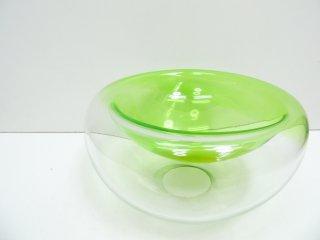 デンマーク ビンテージ Danish vintage ガラス ボウル Glass bowl 大型 グリーン ●