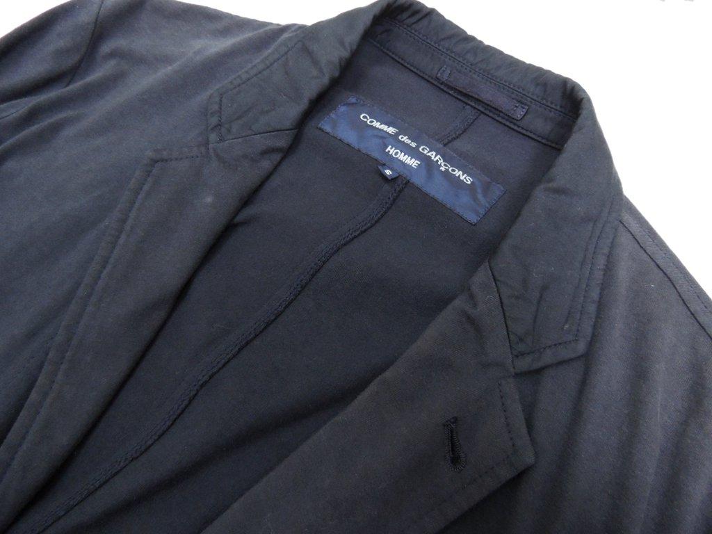 コムデギャルソン オム COMMEdesGARCONS HOMME テーラードジャケット ネイビー S 製品染め アーカイブ ●