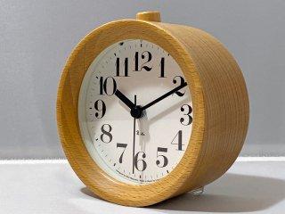レムノス Lemnos 目覚まし時計 RIKI アナログ アラームクロック 渡辺力 ブナ材 ■