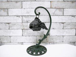 ジャパンビンテージ Japan Vintage 吊り灯篭 金魚型 鉄製 ●