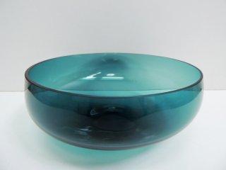 北欧ビンテージ danish vintage ガラスボウル Φ21cm ブルー ●
