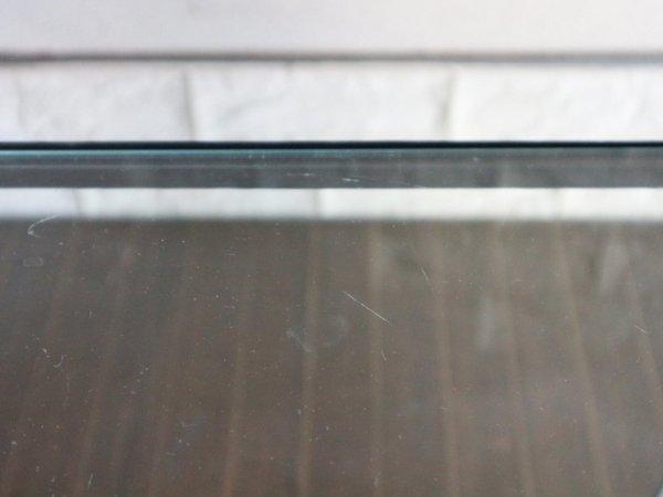 ウニコ unico エディ EDDY ガラストップ×アイアンフレーム ローテーブル S ◎