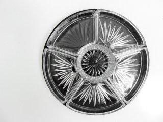 ミッドセンチュリーデザイン Mid-century design セパレート ガラス プレート ビンテージ ●