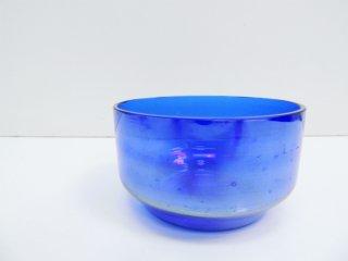 Jean Beck アンティーク ガラス ボウル antique glass bowl コバルトブルー ドイツ製 ●
