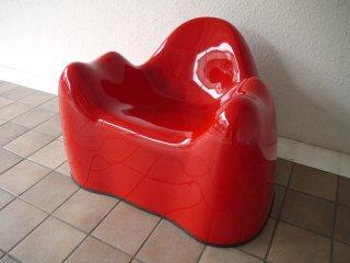 ベイレリアン BEYLERIAN モラーチェア Molar Chair レッド  70-80's ビンテージ ウェンデル・キャッスル Wendell Castle MCM スペースエイジ MoMA ◇