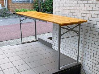 ダルトン DULTON ビアテーブル BEER TABLE 180 SILVER フォールディングテーブル 折り畳み ■