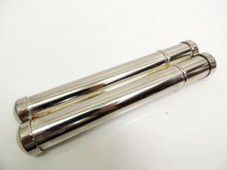 葉巻ケース シガーチューブ ステンレス製 2本用 喫煙具 ●