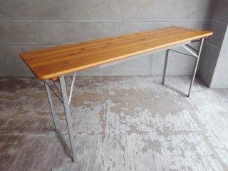 ダルトン DULTON ビアテーブル BEER TABLE 180 SILVER フォールディングテーブル 折り畳み ♪