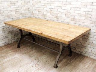 ダルトン DULTON ダイニングテーブル DINING TABLE PINE 213 パイン無垢材 インダストリアル ●