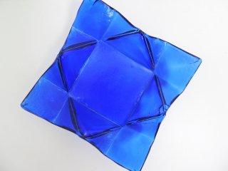 イタリアモダンデザイン italy modern design ブルーガラス blue glass フルーツプレート ●