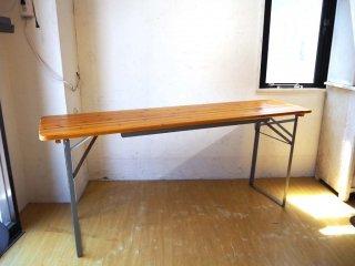 ダルトン DULTON ビアテーブル BEER TABLE 180 SILVER フォールディングテーブル ミーティングテーブル 折畳 会議机 ★