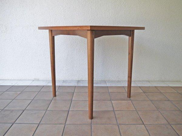 ウニコ unico ホルム HOLM ダイニングテーブル ( デスク / カフェテーブル ) W800 ウォールナット 北欧 60's ビンテージスタイル 廃盤・希少 定価¥53,784- ◇