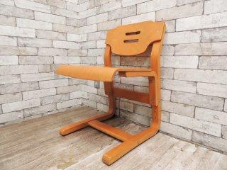 コスガ KOSUGA キッズチェア 学習椅子 M-2611 高さ調節機能付き 積層合板 A ●