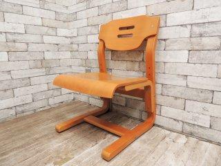 コスガ KOSUGA キッズチェア 学習椅子 M-2611 高さ調節機能付き 積層合板 B ●