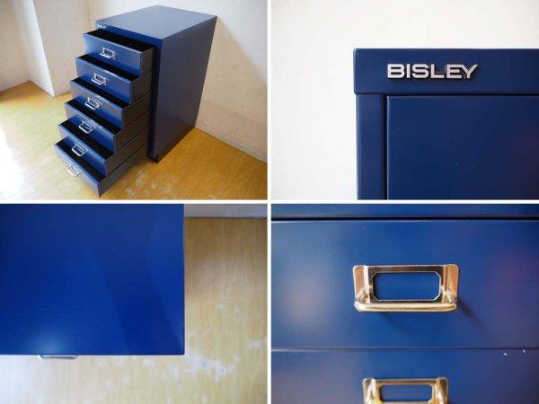 ビスレー BISLEY BASICシリーズ BA3/6 6段キャビネット A3サイズ ネイビー 英国 イギリス ★