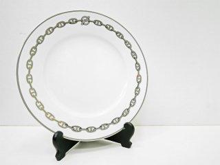 エルメス HERMES シェーヌダンクル chaine d'ancre プレート プラチナ 白磁 皿 食器 27cm フランス ●