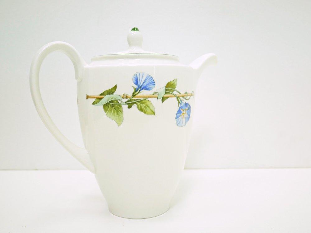 ウエッジウッド WEDGWOOD ブルーデルフィ BLUE DELPHI コーヒーポット 朝顔 白磁 食器 英国 made in England ●
