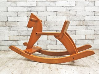 ビンテージ 木馬 ロッキングホース ビーチ材 おもちゃ 玩具 ●