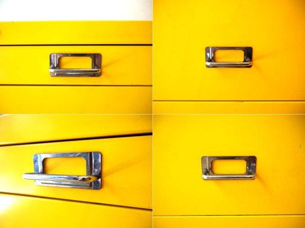 ビスレー BISLEY BASICシリーズ レア BA3/CD 4段キャビネット A3サイズ イエロー Yellow 英国 イギリス ★
