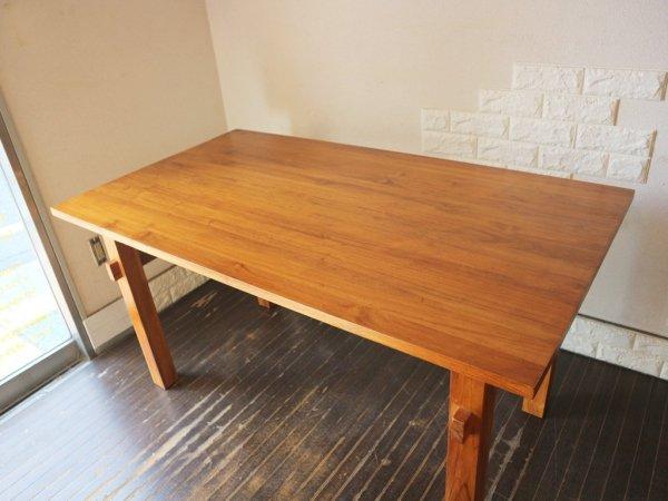 ウニコ unico ブレス BREATH ダイニンクテーブル チーク材 幅140cm 天然木無垢材シリーズ ◎