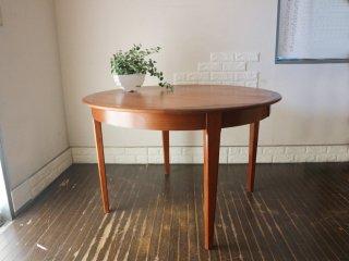 北欧 ビンテージ Scandinavian Vintage ダイニングテーブル チーク材 ラウンドテーブル エクステンション 八角形 オクタゴン 拡張式 ◎