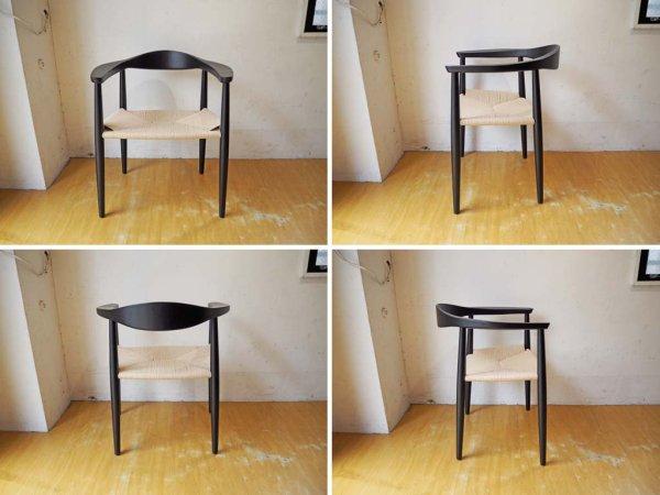 ハンス・J・ウェグナー 名作 ザ・チェア The Chair リプロダクト アッシュ材 ペーパーコード ブラック B ★