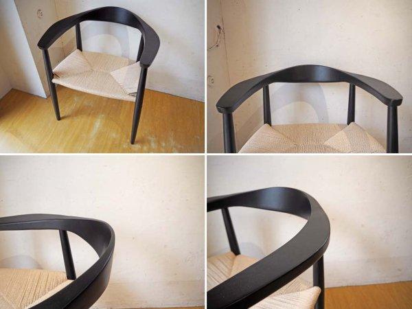 ハンス・J・ウェグナー 名作 ザ・チェア The Chair リプロダクト アッシュ材 ペーパーコード ブラック A ★